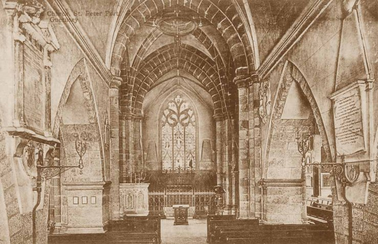Channel Islands, Guernsey, St. Peter Port Town Church interior